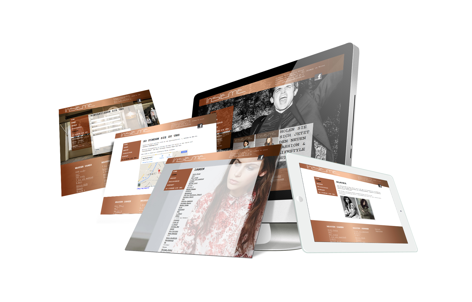 SOFTCON Webdesign Insieme Fashion Lifestyle Store