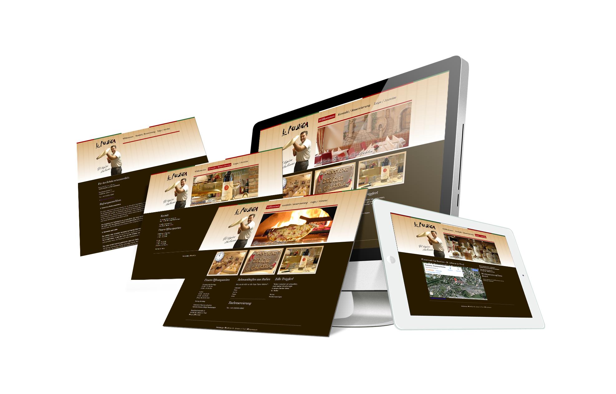 SOFTCON Webdesign La Rustica Pizzeria Ristorante