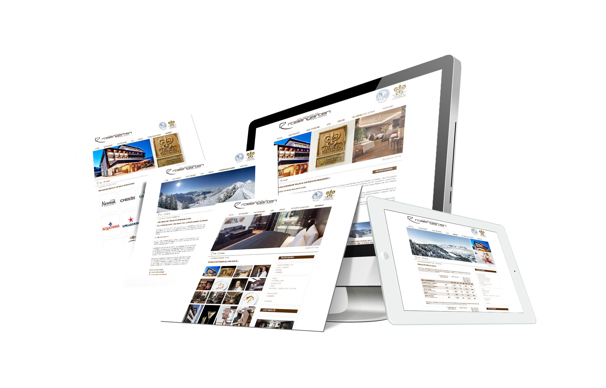 SOFTCON Webdesign Hotel Restaurant Spa Rosengarten Taxacher