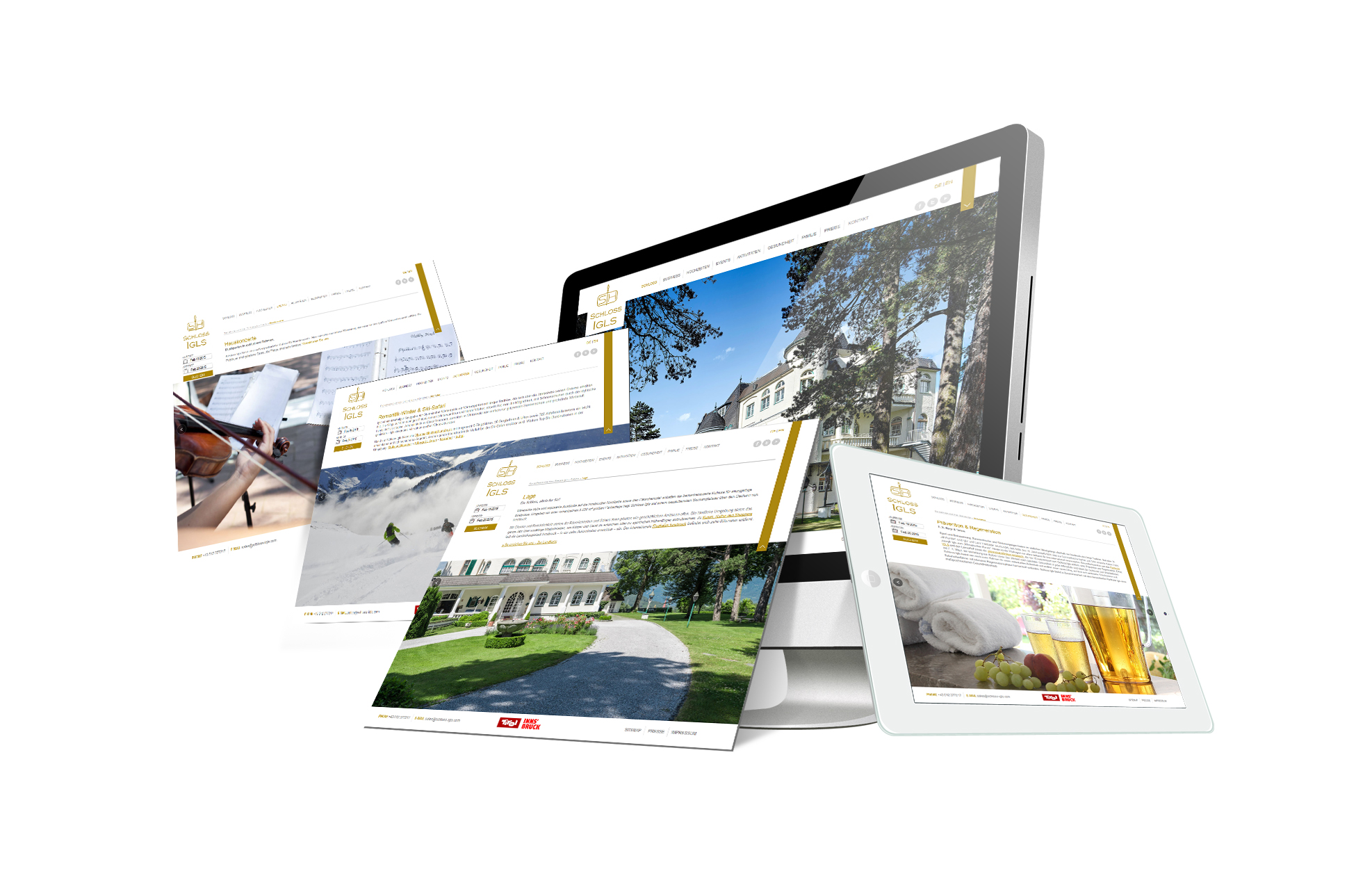 SOFTCON Webdesign Schloss Igls
