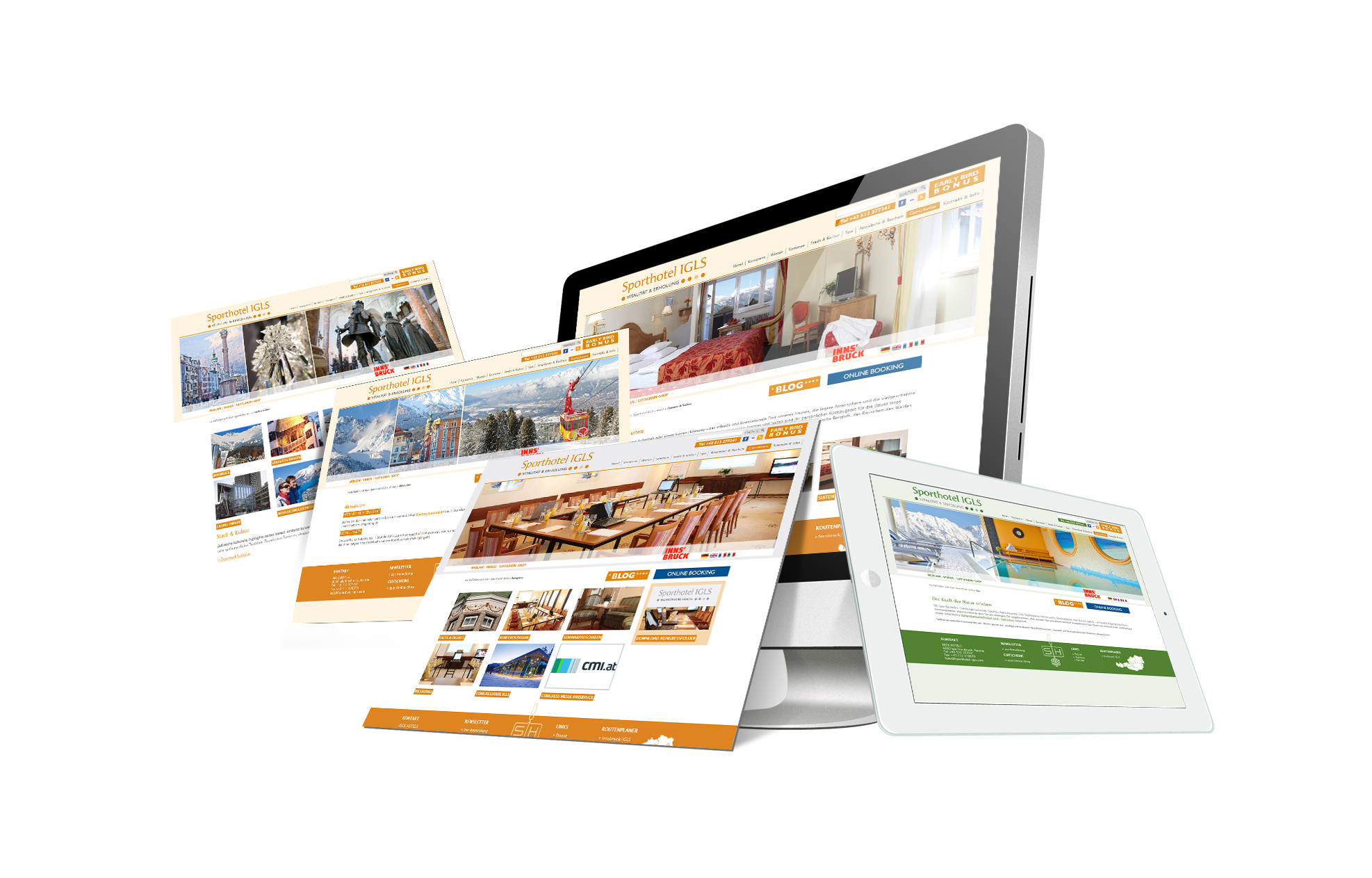 SOFTCON Webdesign Sporthotel Igls