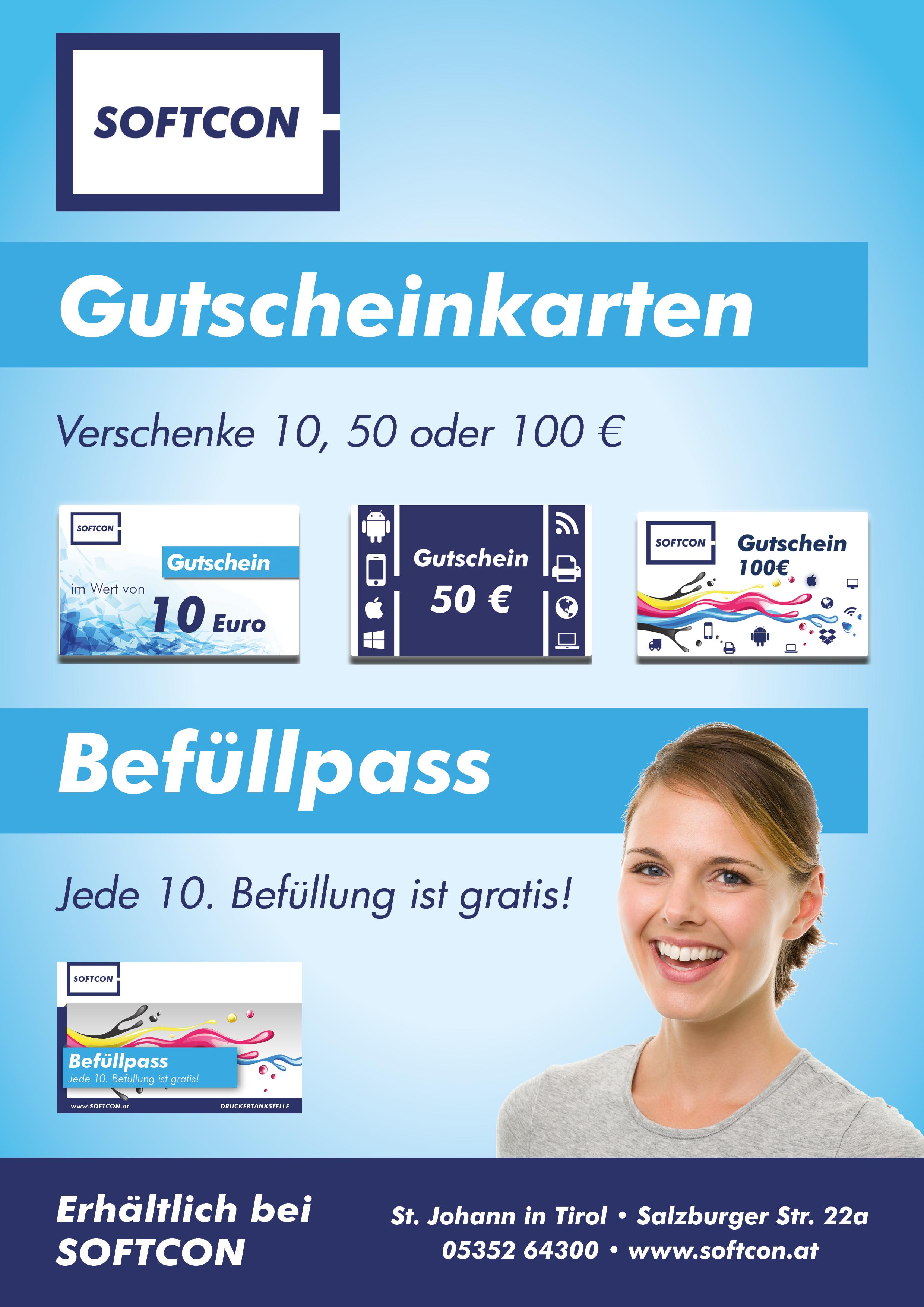 SOFTCON Gutscheinkarten & Befüllpass