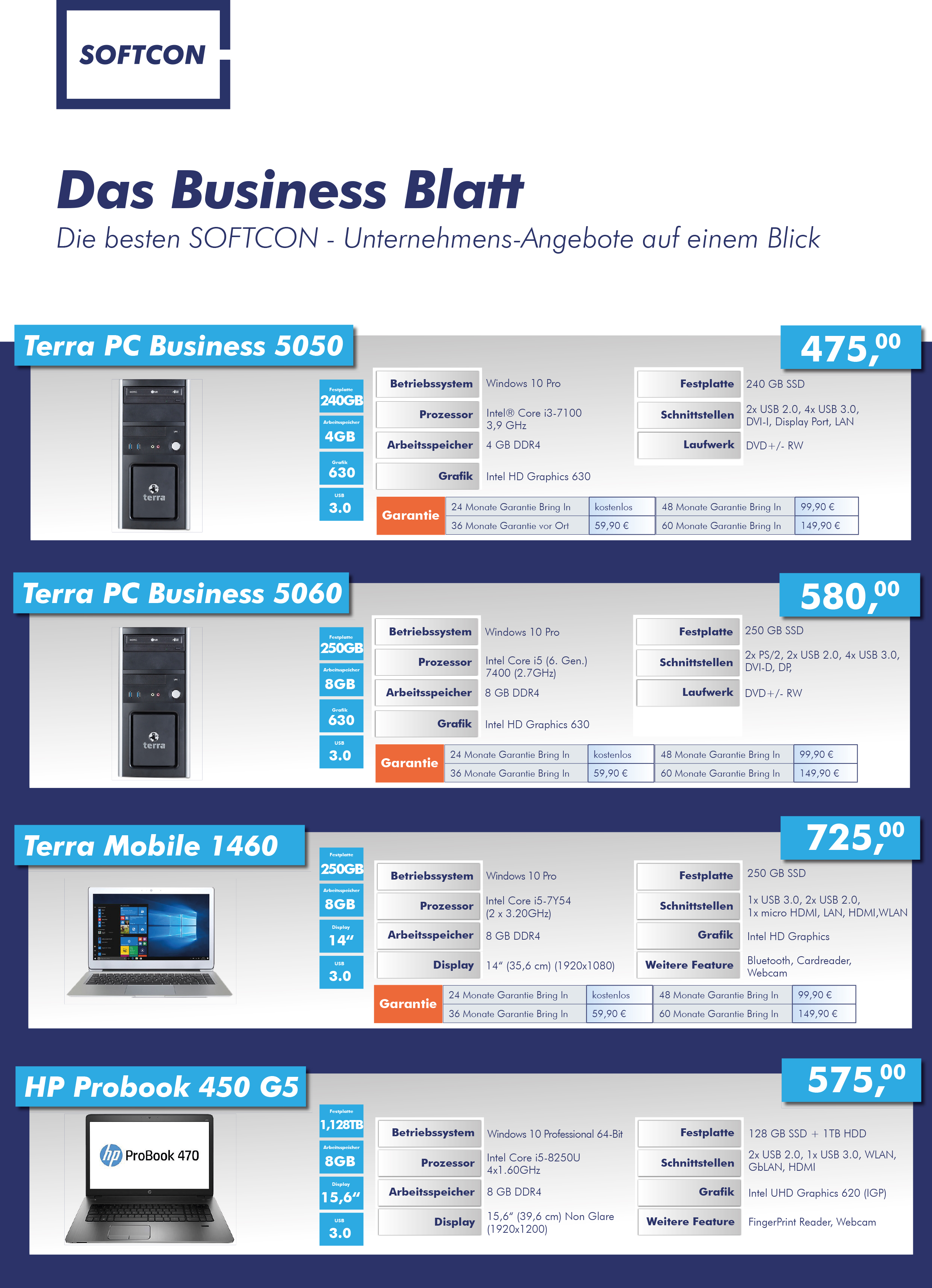 SOFTCON Business Blatt Mai 2018