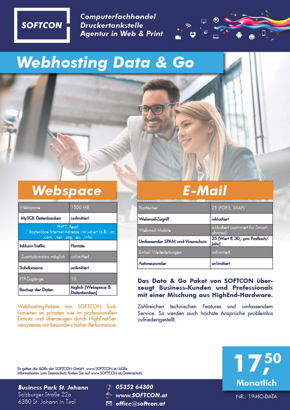 SOFTCON Webhosting Data & Go