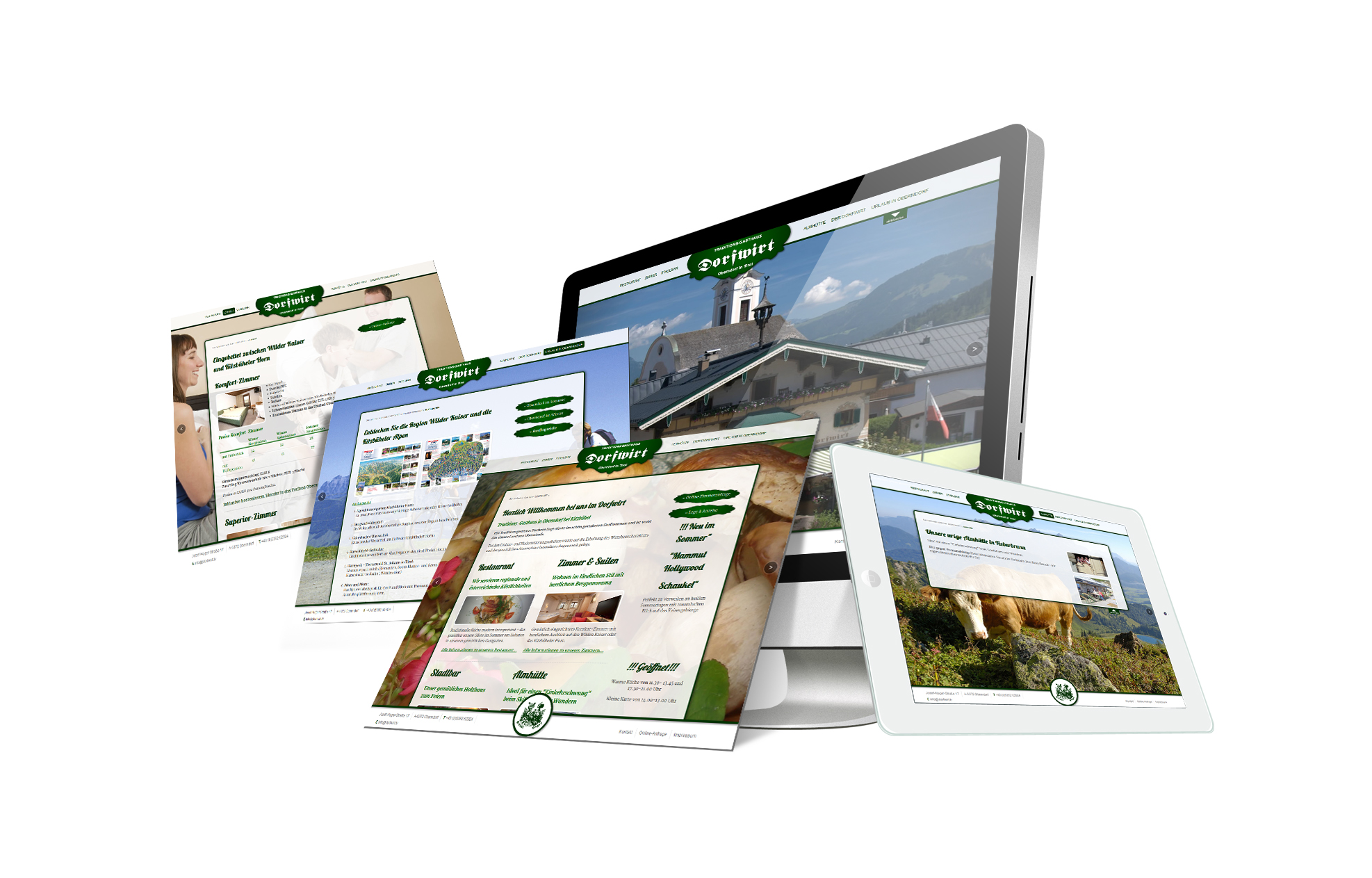 SOFTCON Webdesign Gasthof Dorfwirt Oberndorf Tirol