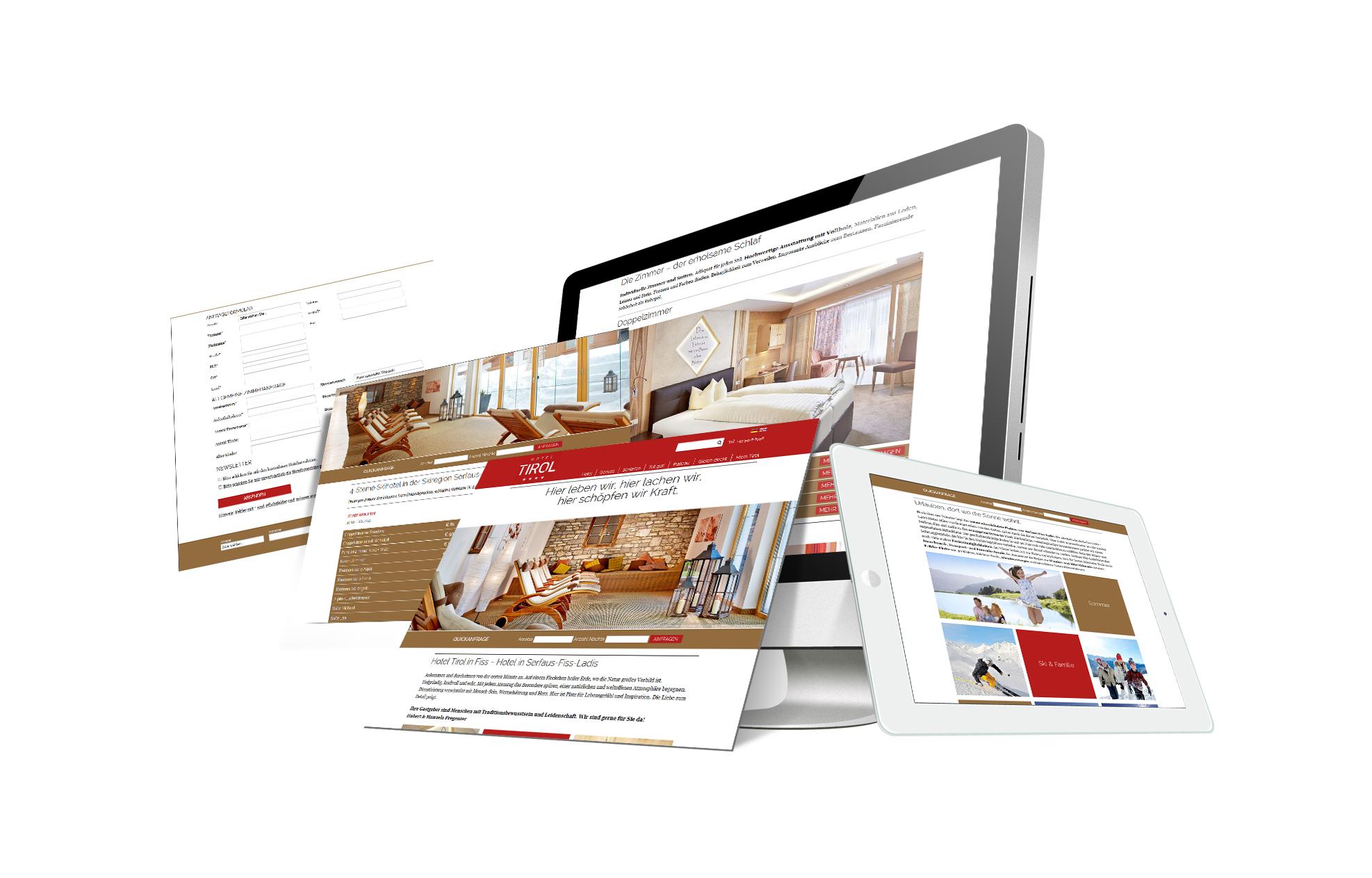 SOFTCON Webdesign Hotel Tirol
