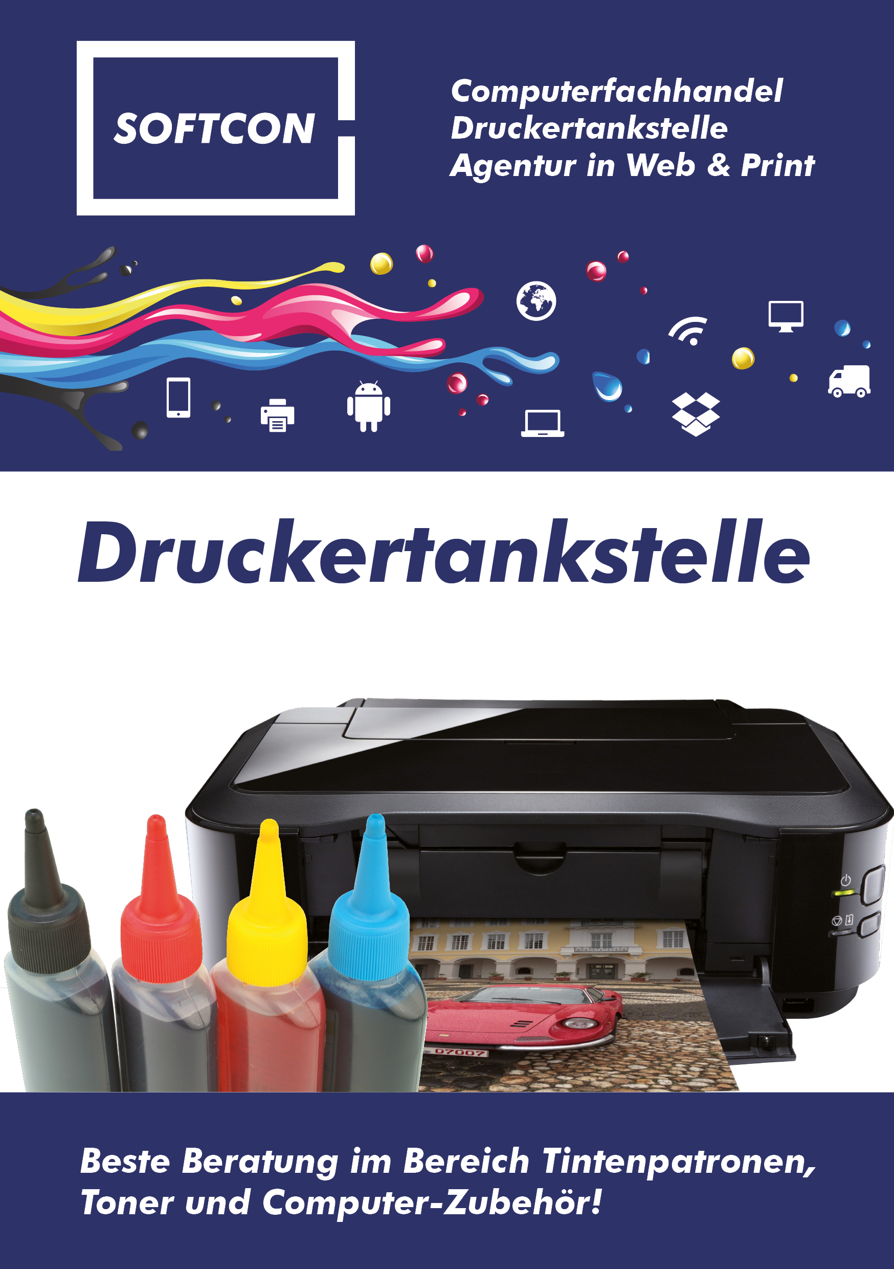 SOFTCON Druckertankstelle