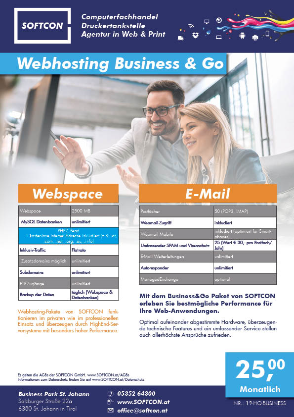 SOFTCON Webhosting Business & Go