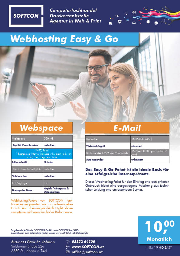 SOFTCON Webhosting Easy & Go