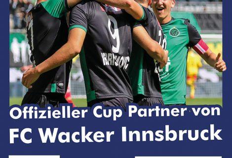 Offizieller Cup Partner des FC Wacker Innsbruck