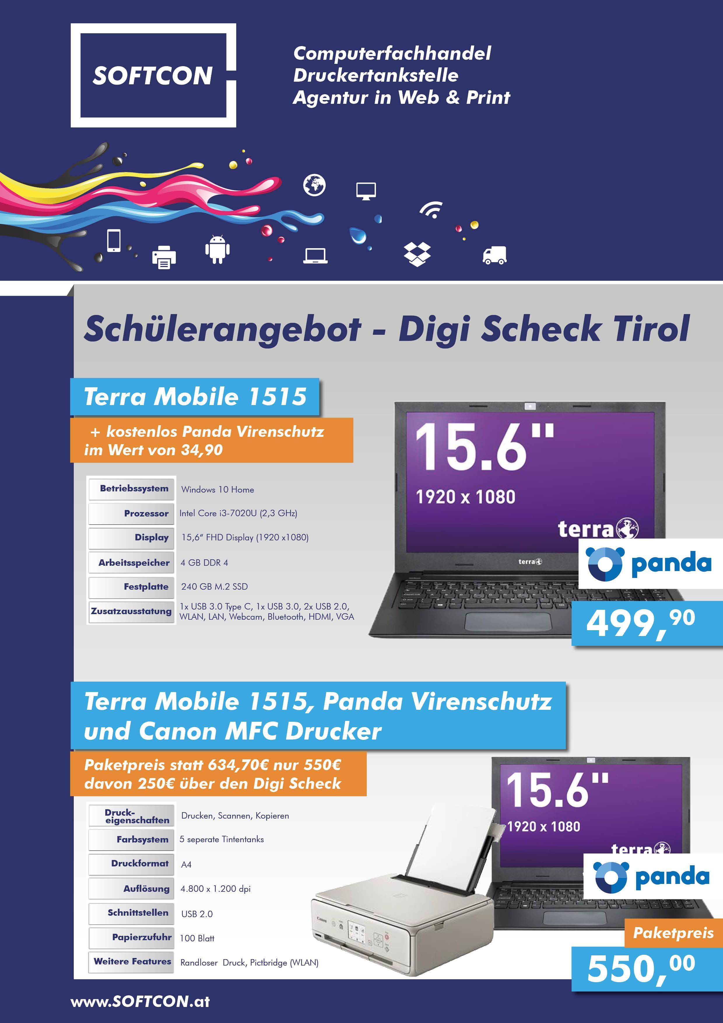 SOFTCON Schülerangebot – Digi Scheck Tirol